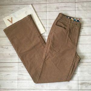 5/$25 boden womens 4 long bootcut tan pants career